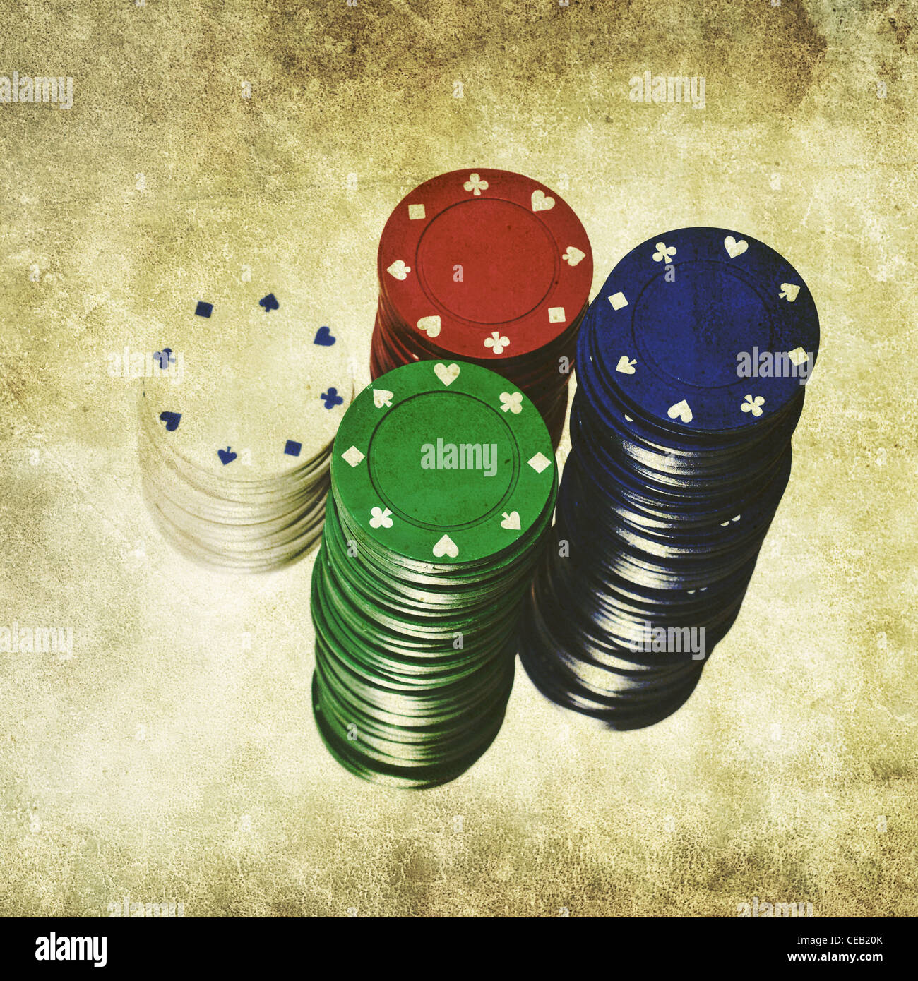 casino chips - Stock Image