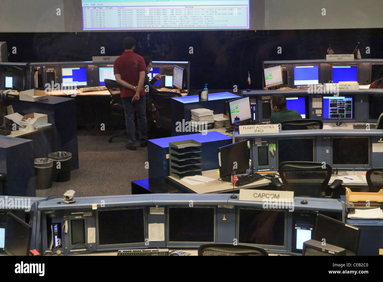 Mission Control Center, Johnson Space Center, Texas. - Stock Image