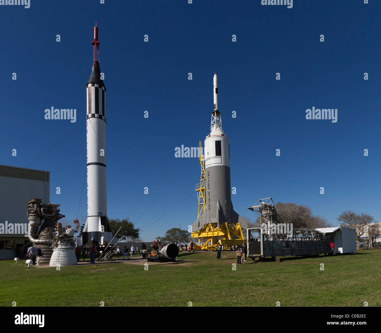 Rocket Park at the Johnson Space Center, Texas. - Stock Image