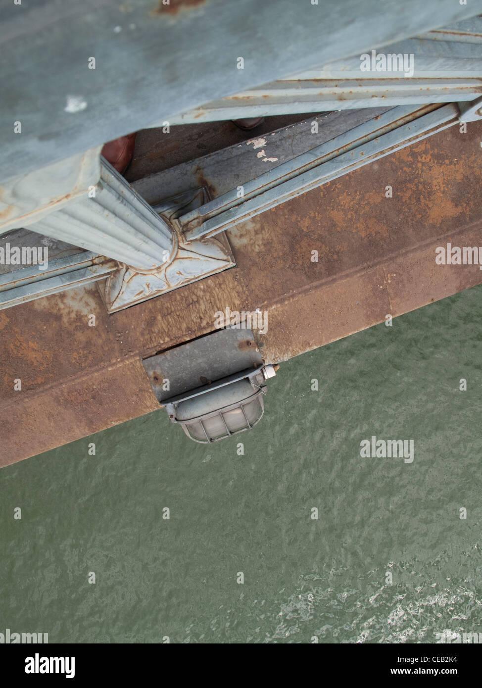 Danube river from the Chain Bridge, Budapest - Stock Image