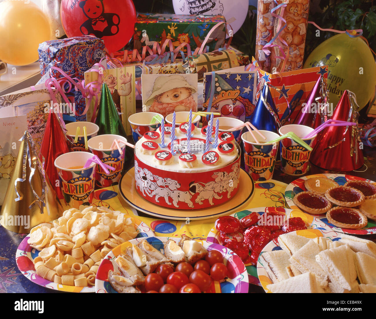 Children's Birthday Party Food Spread, Berkshire, England