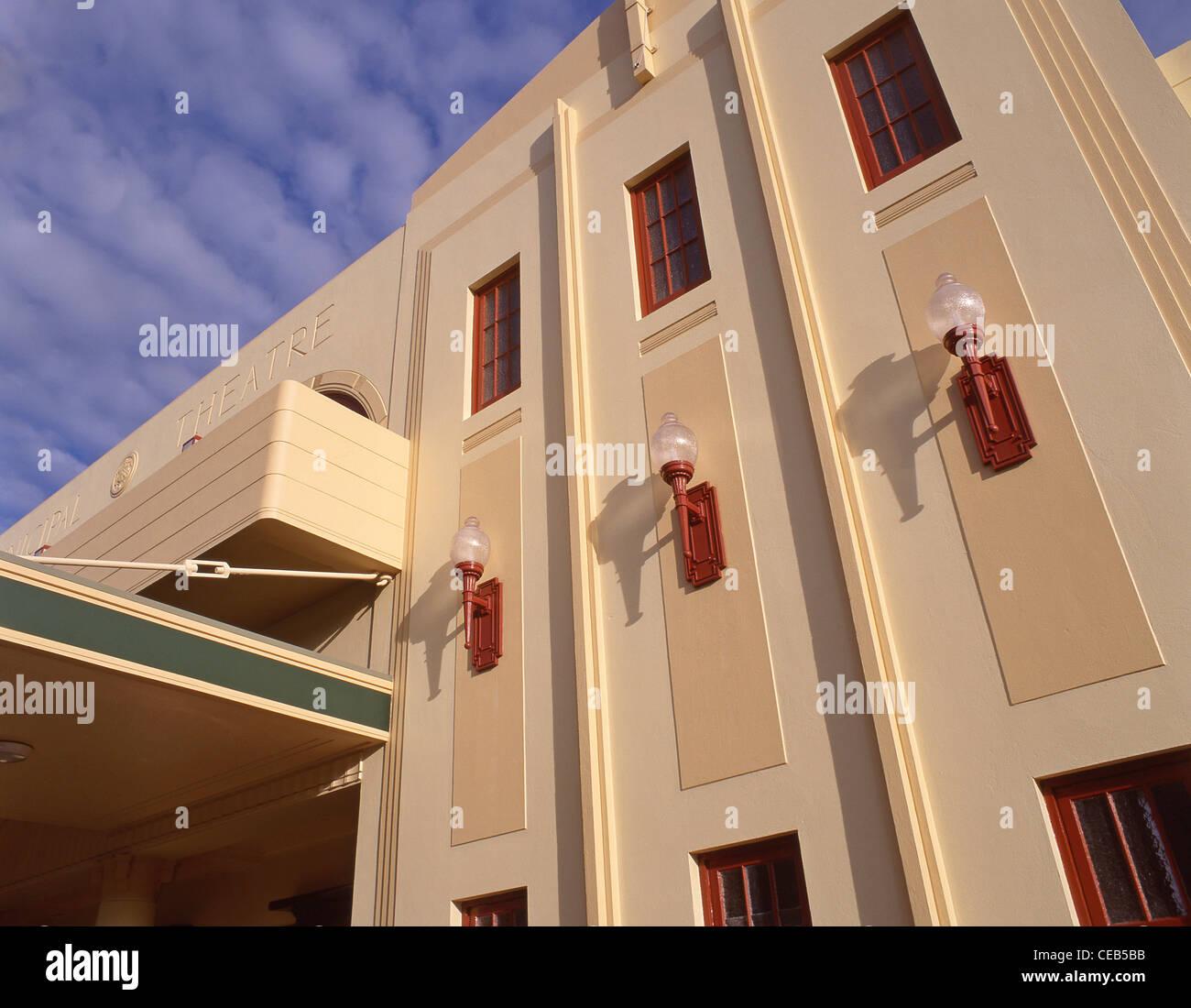The Art Deco Municipal Theatre, Tennyson Street, Napier, Hawke's Bay, North Island, New Zealand - Stock Image