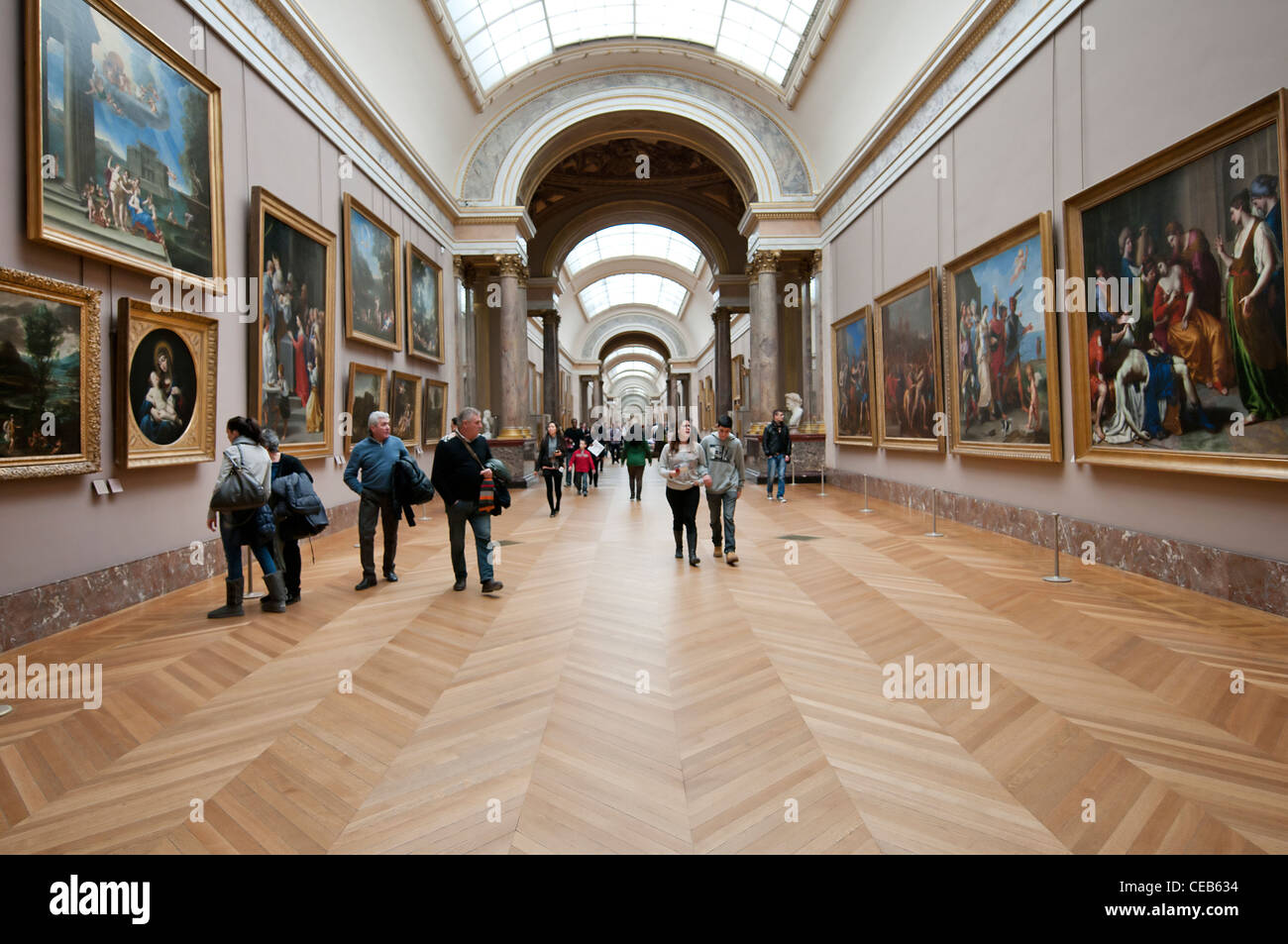 a view of the Louvre Museum in Paris, Stock Photo