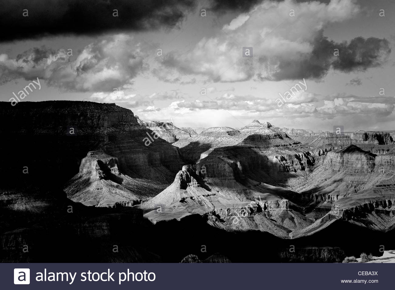The overlook from Lipan Point, Grand Canyon south rim, Arizona. Stock Photo
