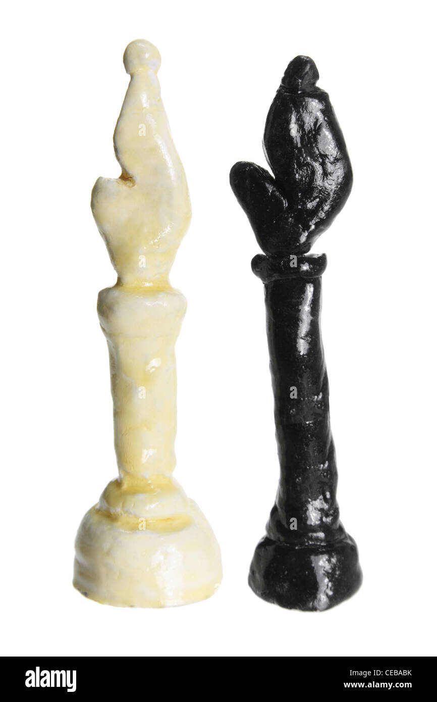 Bishop Chess Pieces - Stock Image