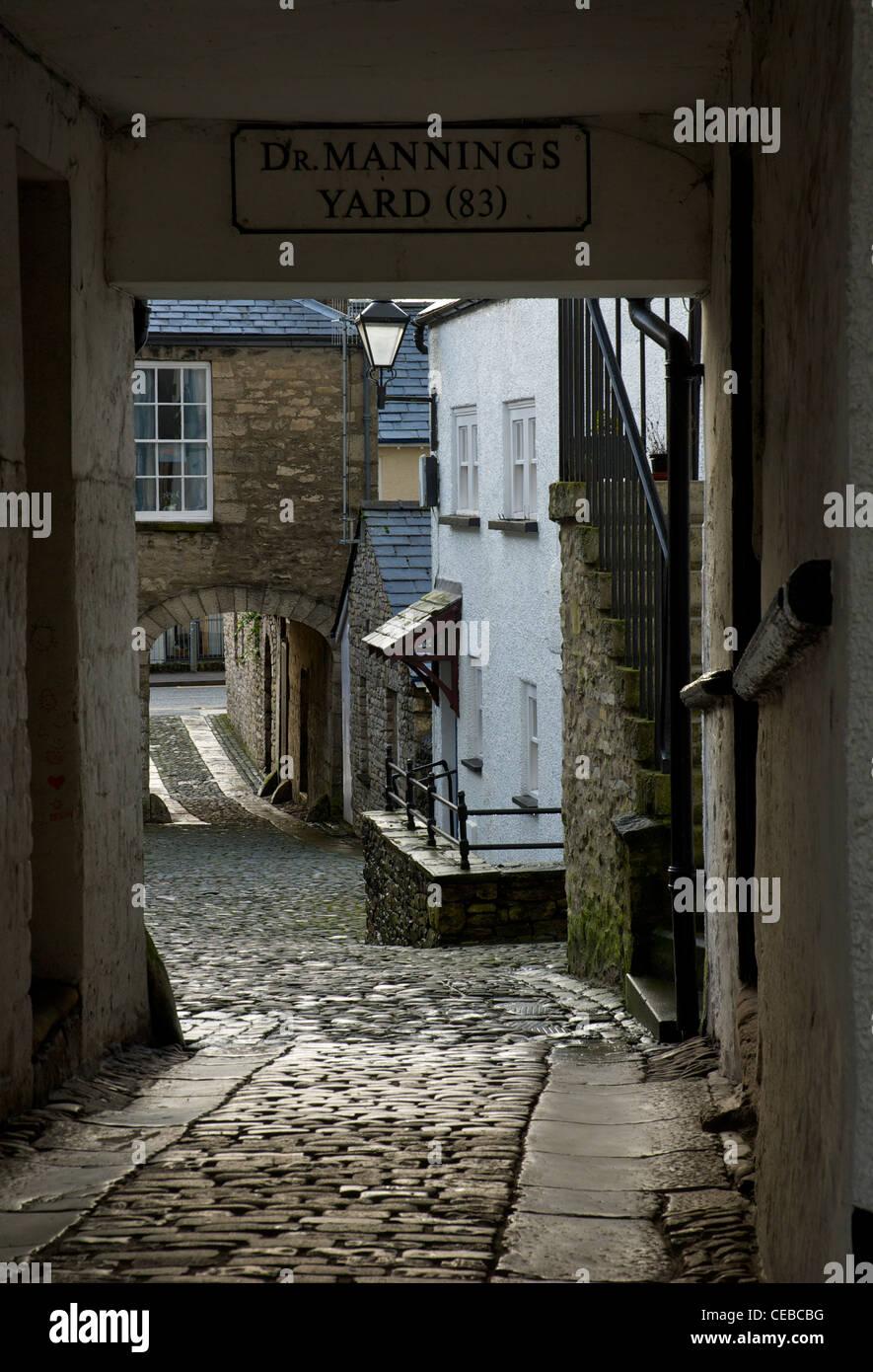 Dr Manning's Yard, Kendal Cumbria, England UK - Stock Image