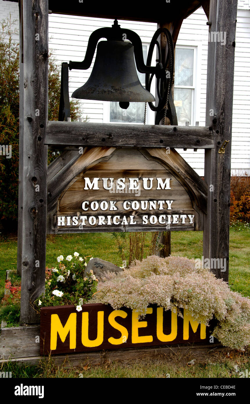 Cook County Historical Society Museum in Grand Marais, Minnesota - Stock Image