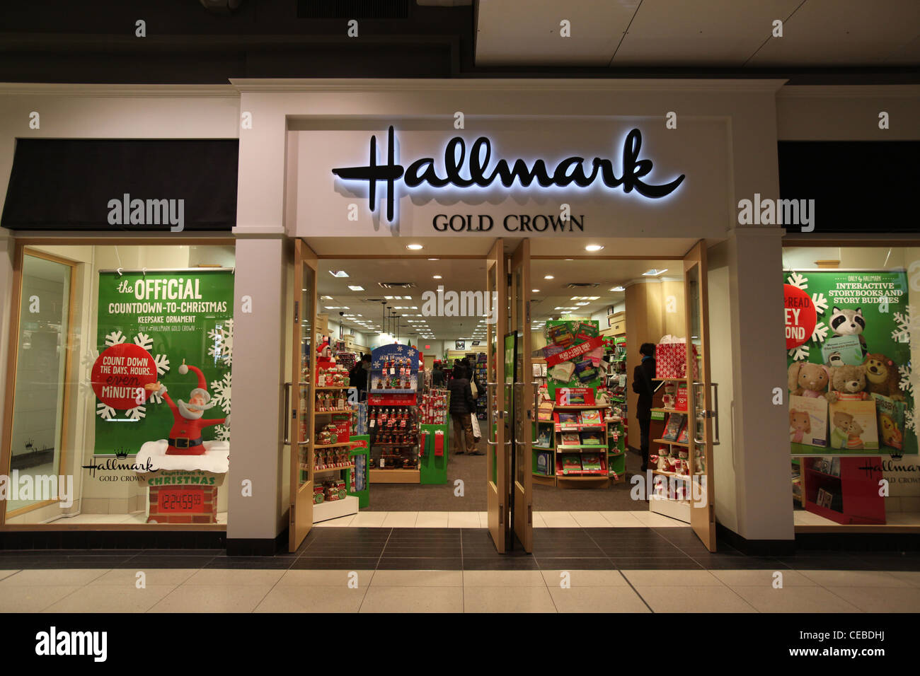 Hallmark Store In Christmas At Toronto Eaton Centre Canada