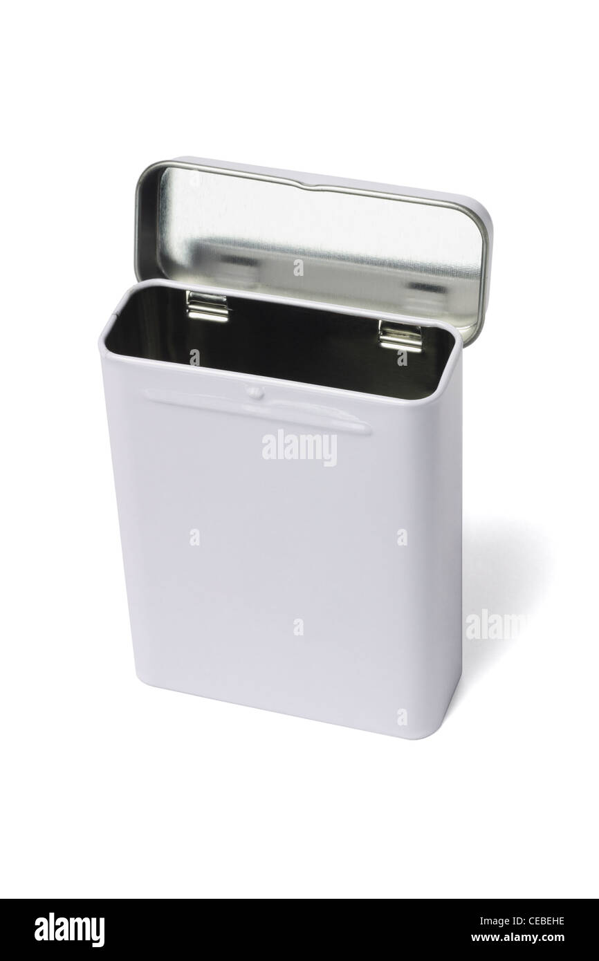 Rectangular Shape Metal Container Standing on White background - Stock Image