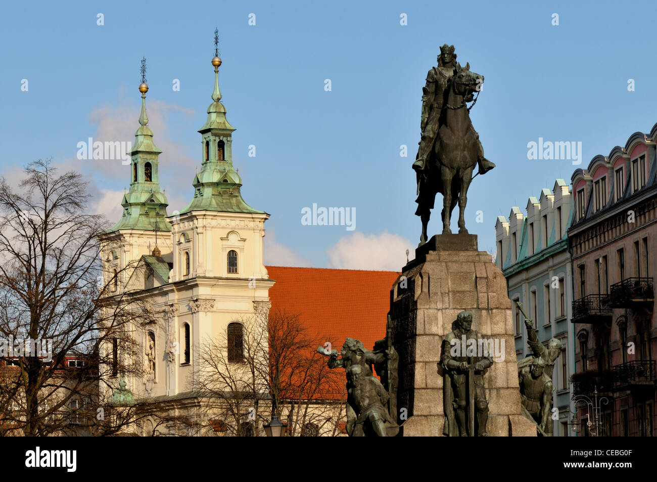 Architecture and old buildings in the city of Krakow - Stock Image