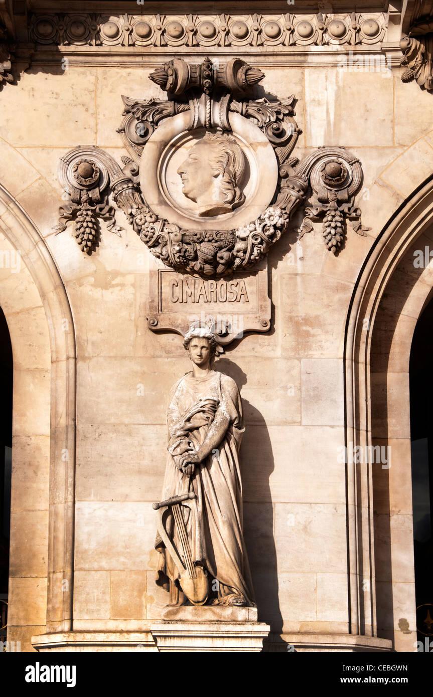 Cimarosa  composer Opera Paris The Palais Garnier - Stock Image