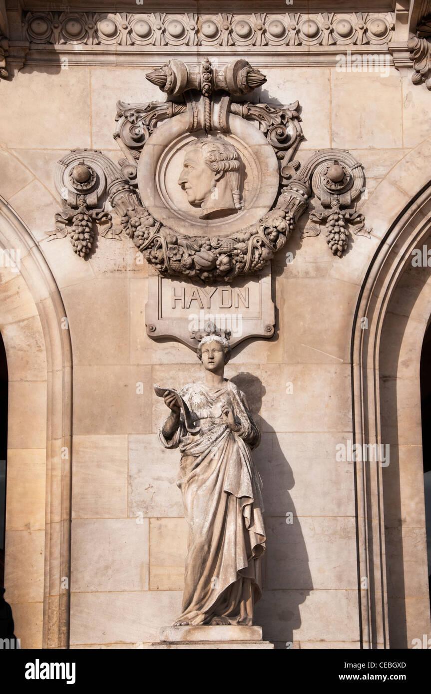 Haydn composer Opera Paris The Palais Garnier art - Stock Image