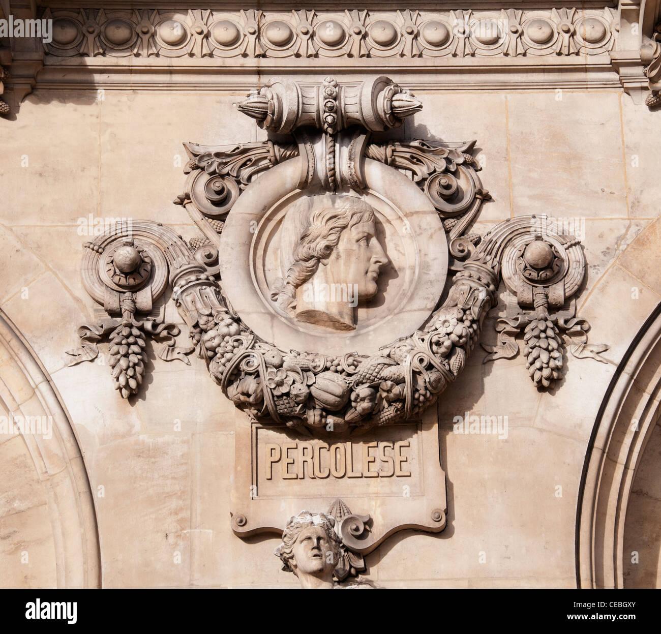 Percolese composer Opera Paris The Palais Garnier art - Stock Image