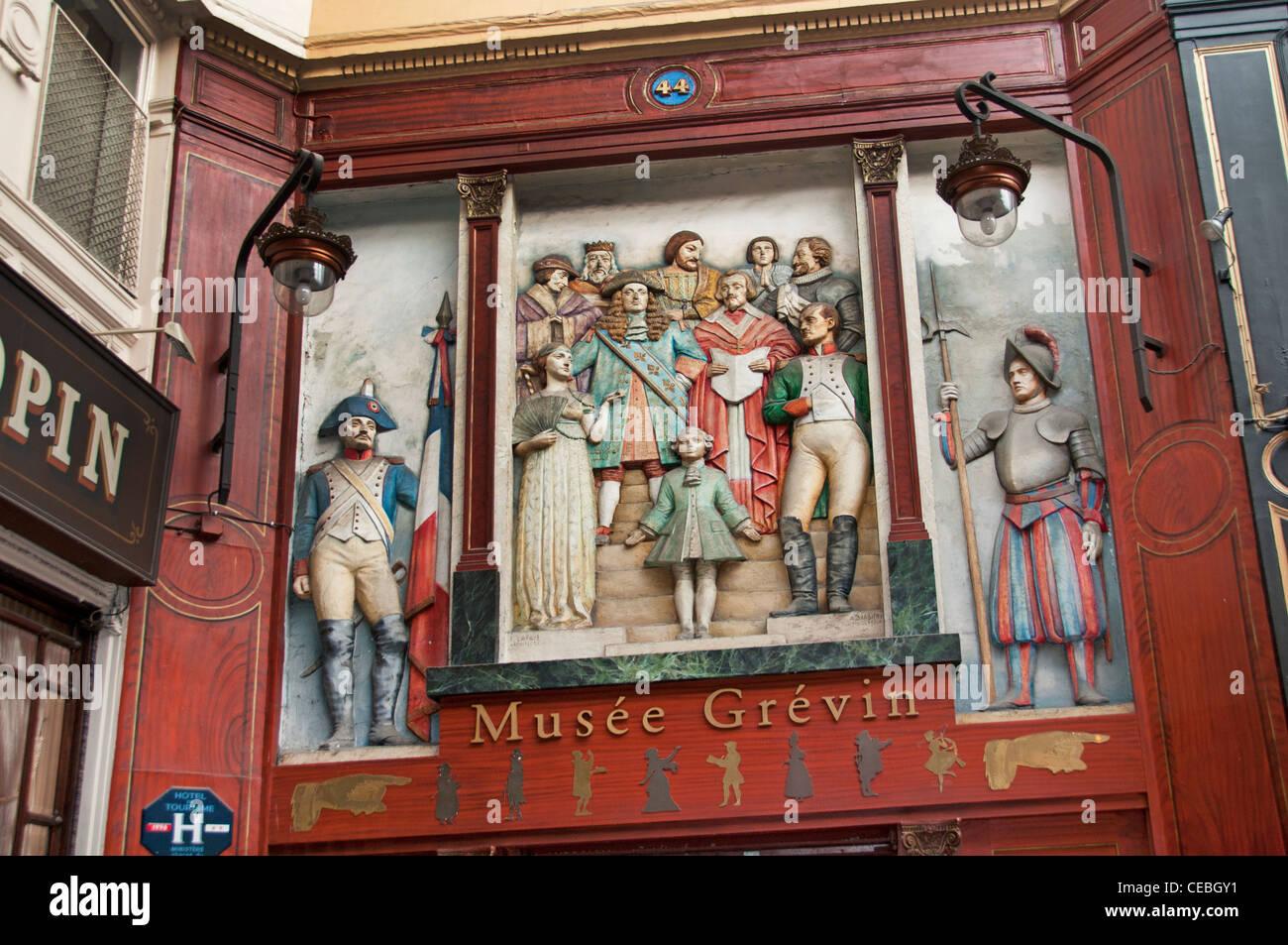 The Musée Grévin waxwork museum passage Jouffroy  Boulevard Montmartre Paris France French - Stock Image