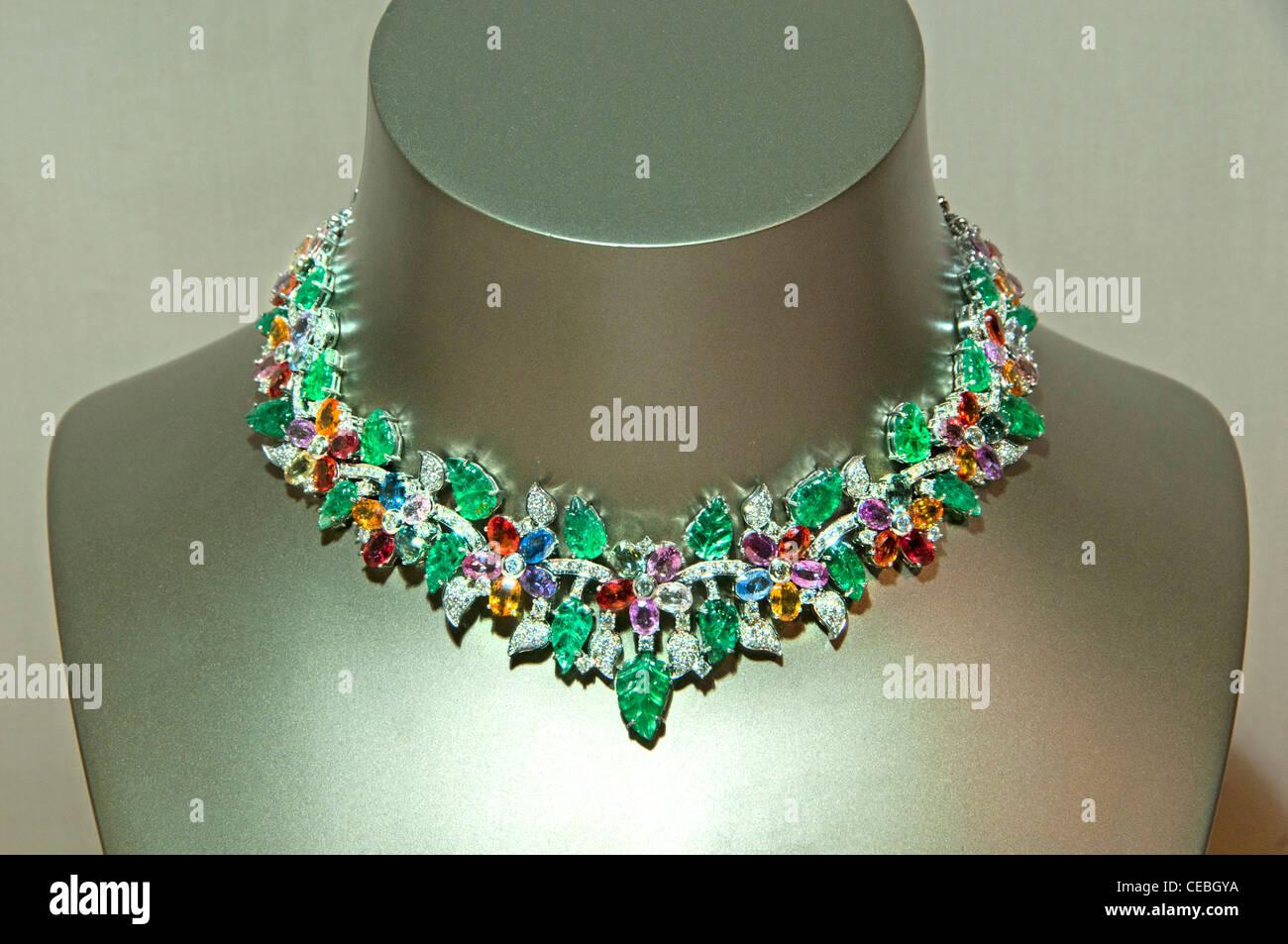 Garland Place Vendome Jeweler Jewel Paris France - Stock Image