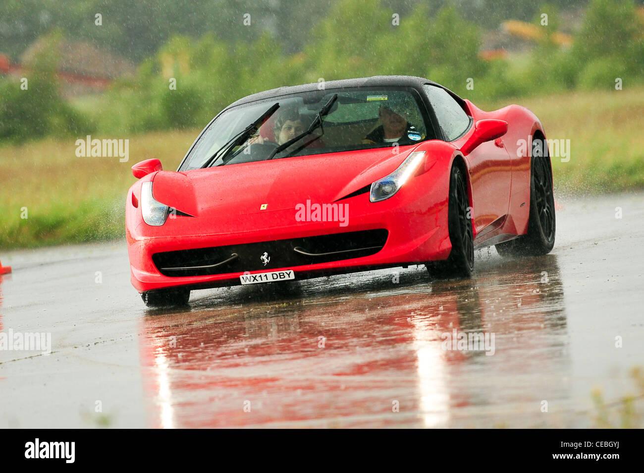 Supercars On Track Uk Ferrari 458 Italia Stock Photo Alamy