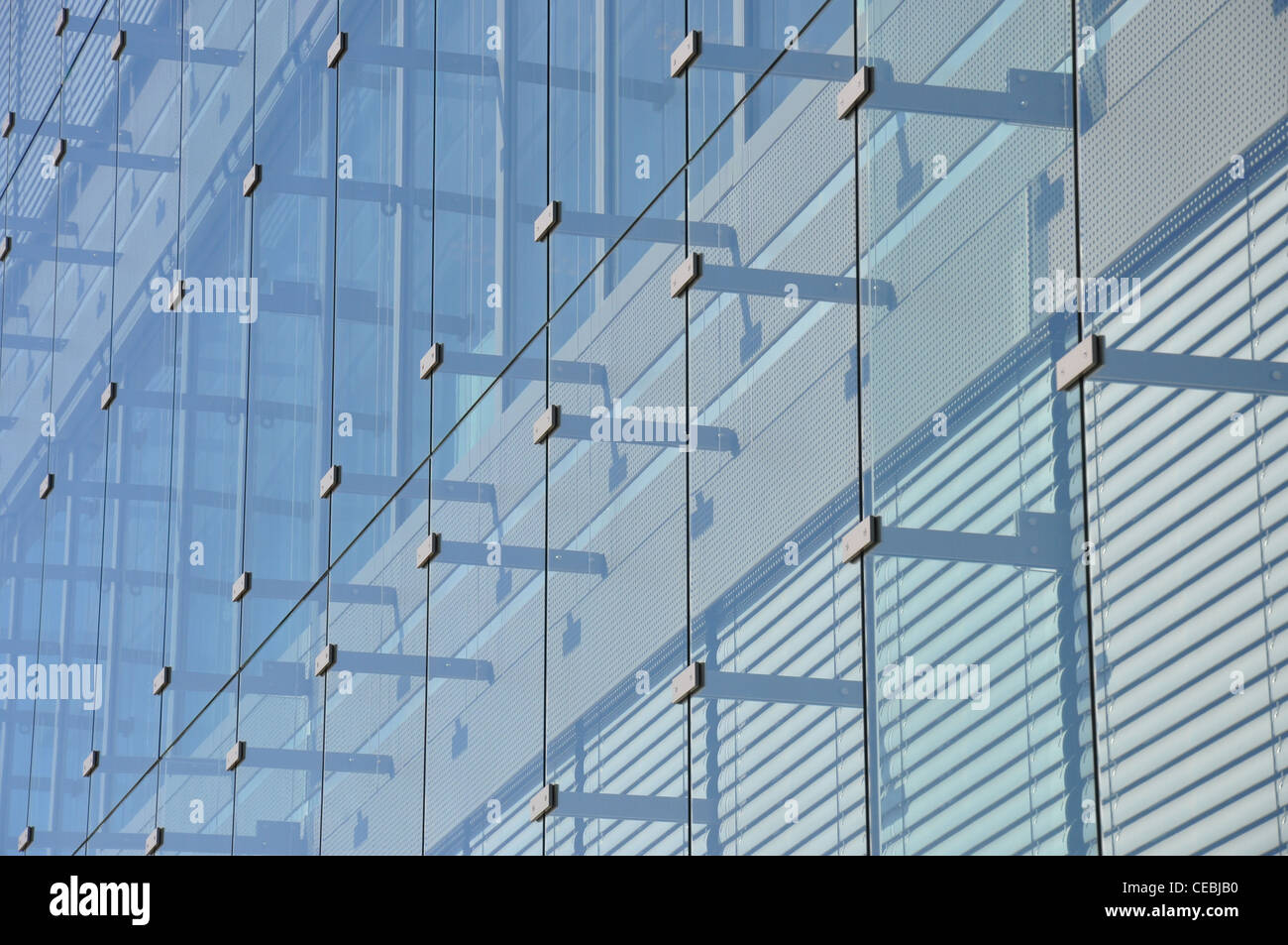 office building in Luxembourg, Plateau Kirchberg - Stock Image
