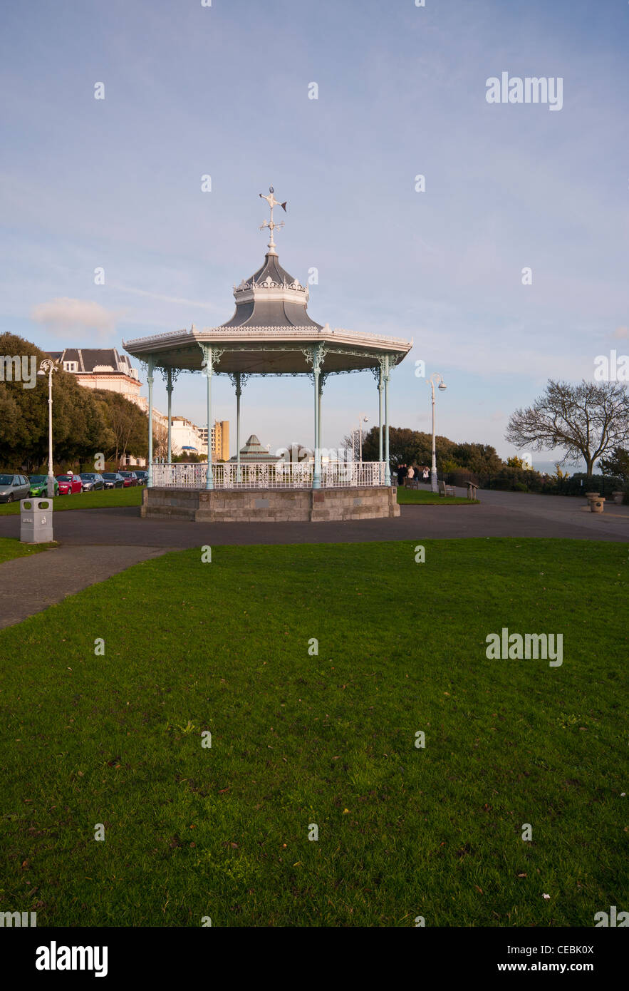 The Bandstand On The Promenade The Leas Folkestone Kent UK - Stock Image