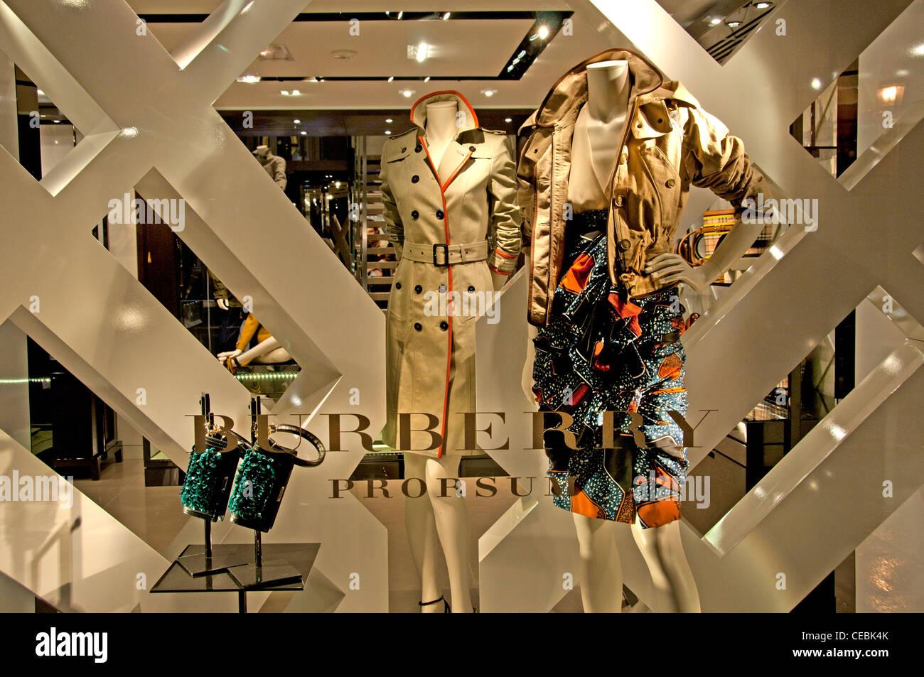 596b7c2d118f Burberry Store Paris France fashion designer couturier Rue Faubourg Saint  Honoré - Stock Image