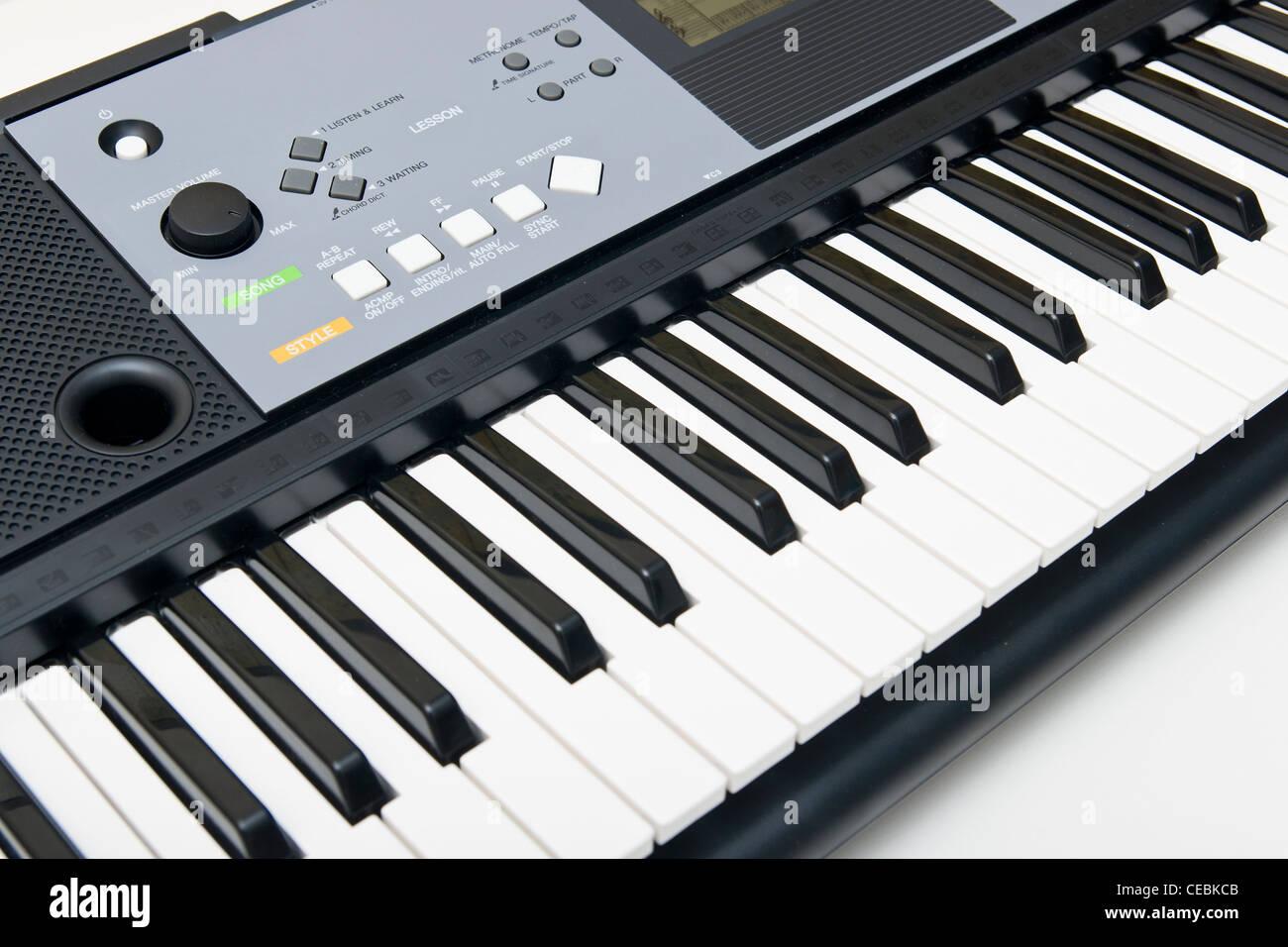 Electronic Piano Keyboard - Stock Image