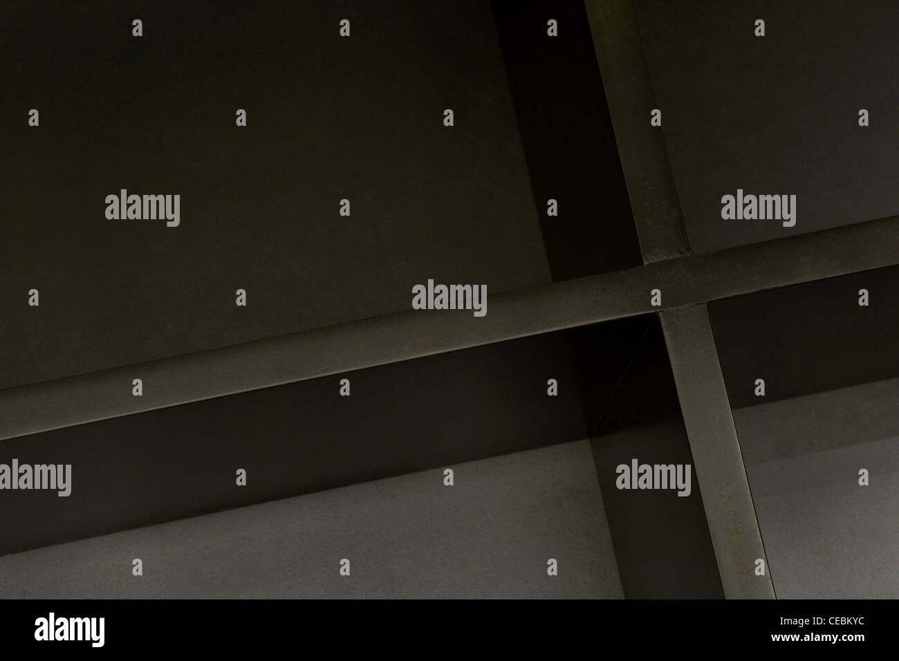 black box with dividers - Stock Image