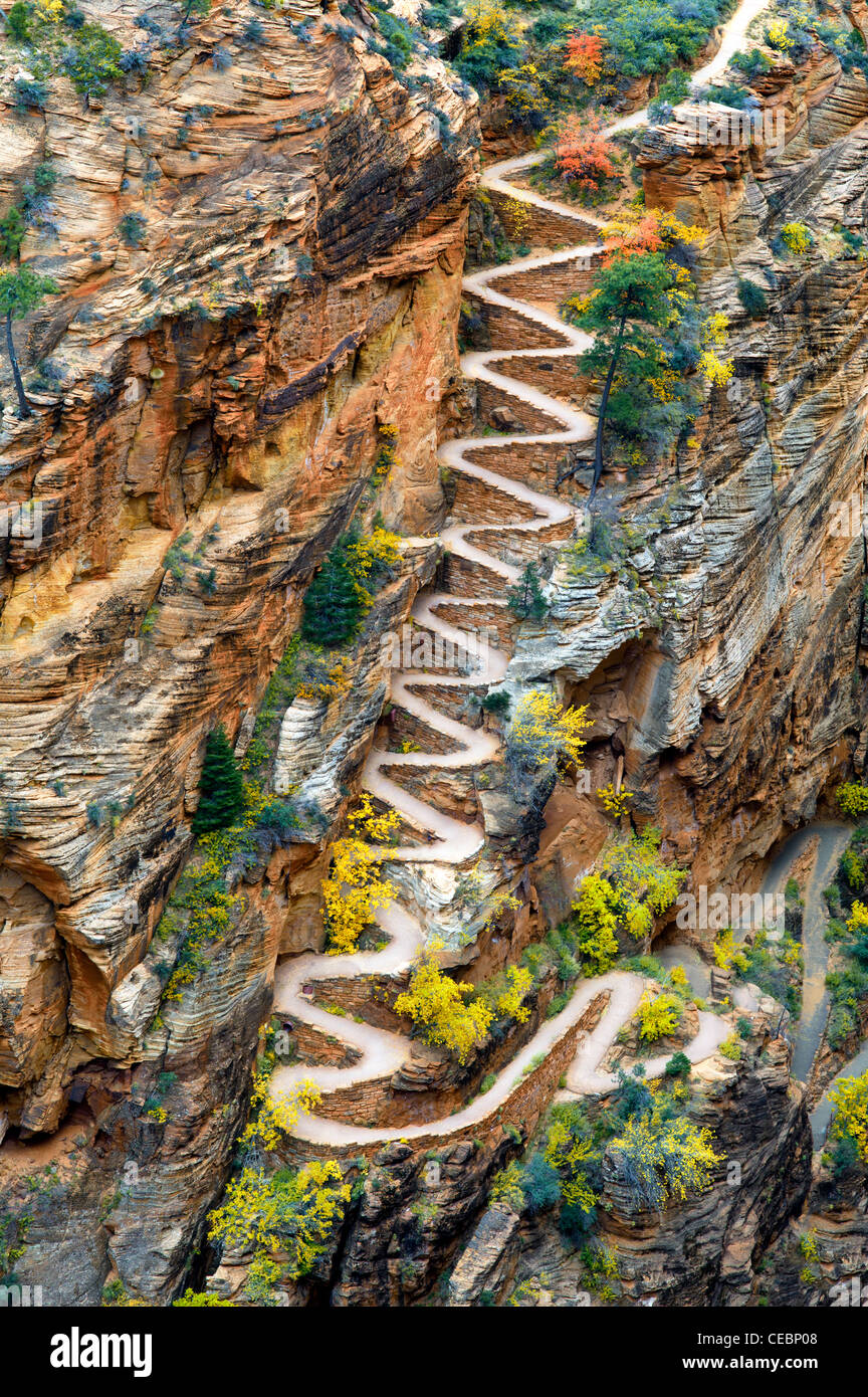 Walter's Wiggles. Zion National Park, Utah Stock Photo