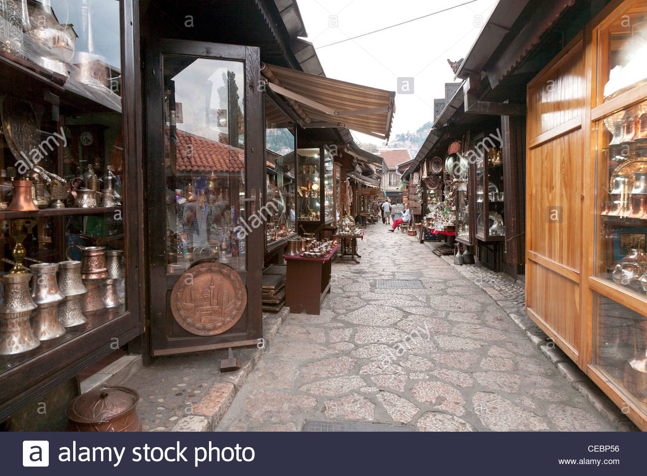 Bascarsija Bazaar, Sarajevo, Bosnia and Herzegovina, Europe - Stock Image