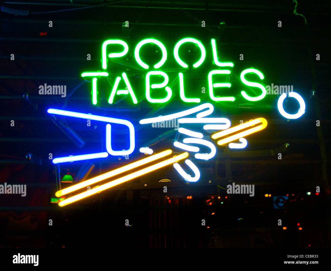 Pool Table Shop Stock Photos Pool Table Shop Stock Images Alamy - Neon pool table