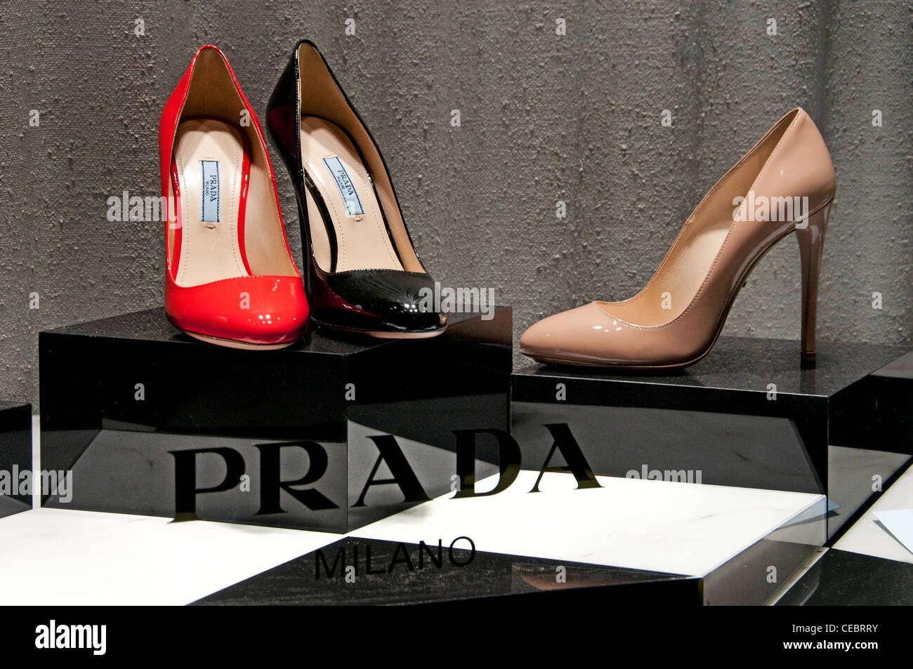 3b559fc8bbae Prada Store Paris Avenue Montaigne high fashion designer couturier France -  Stock Image