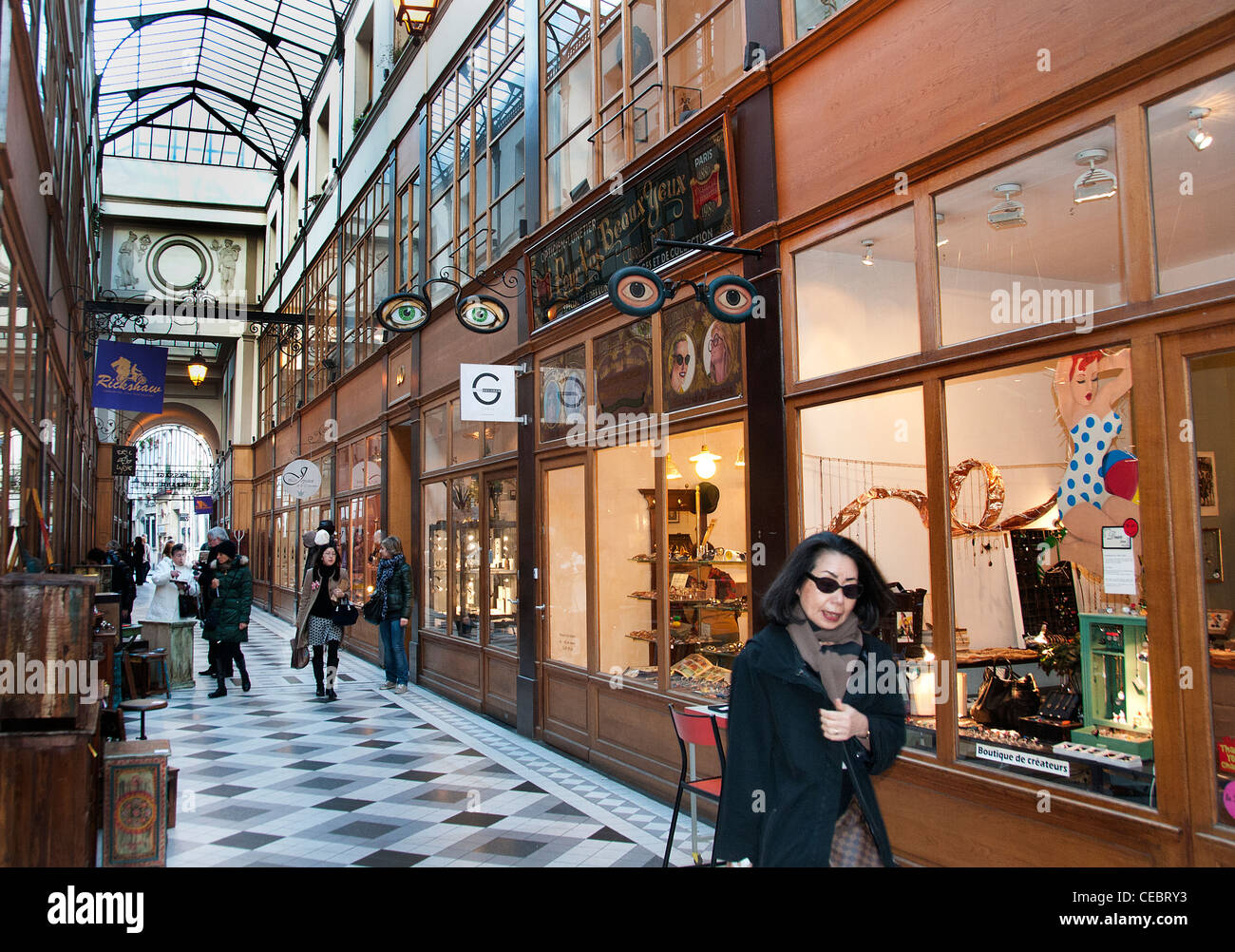 Gallery - Galerie Vivienne Paris France French Stock Photo