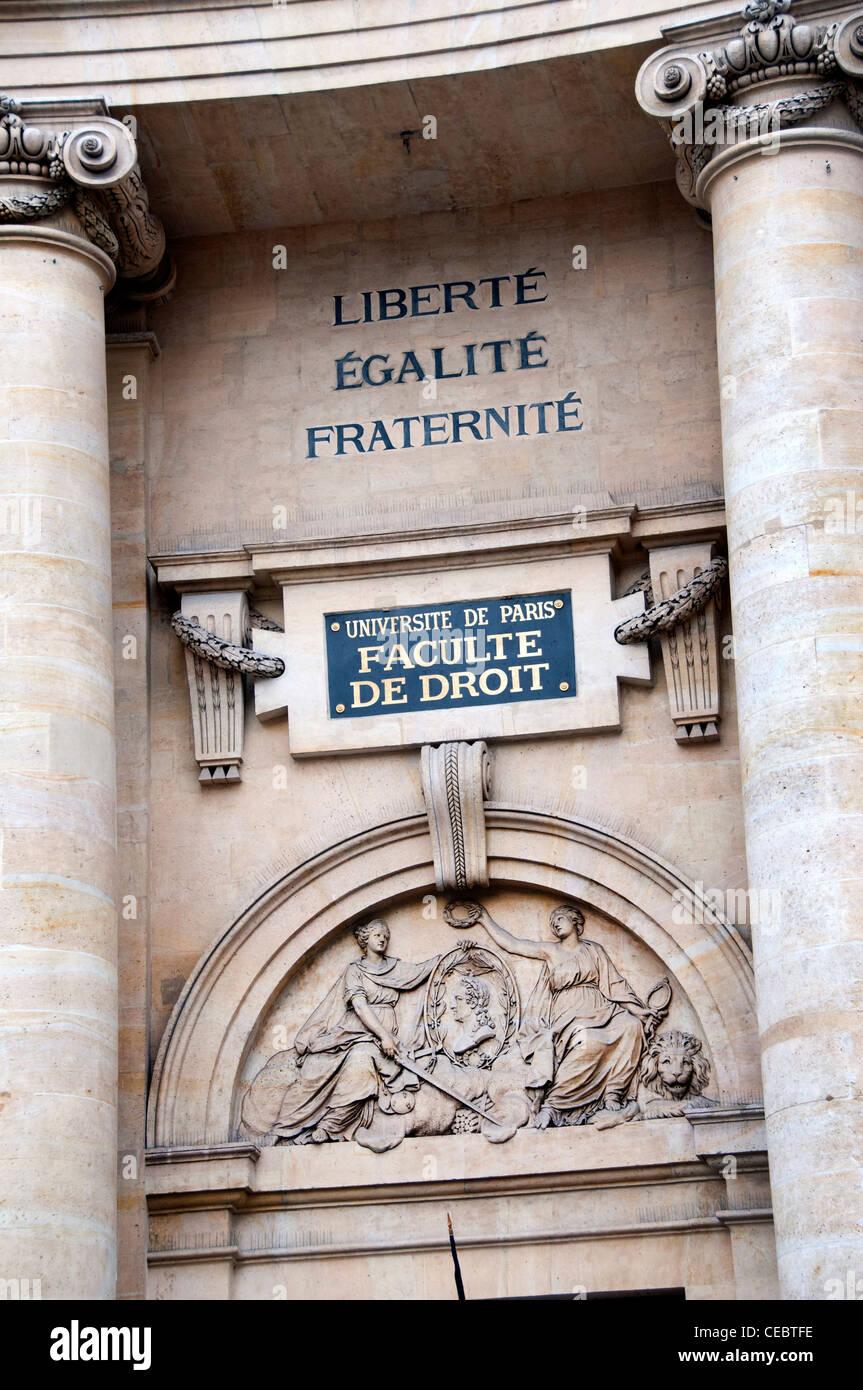 Place de la Sorbonne university of Paris  France - Stock Image