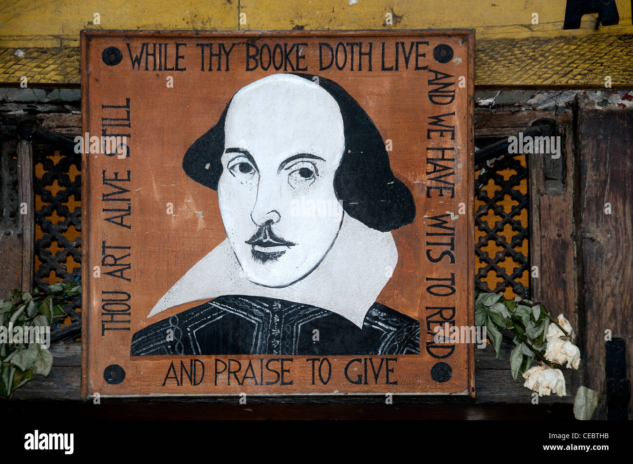 Shakespeare antiquarian books Paris France French English Book Shop - Stock Image