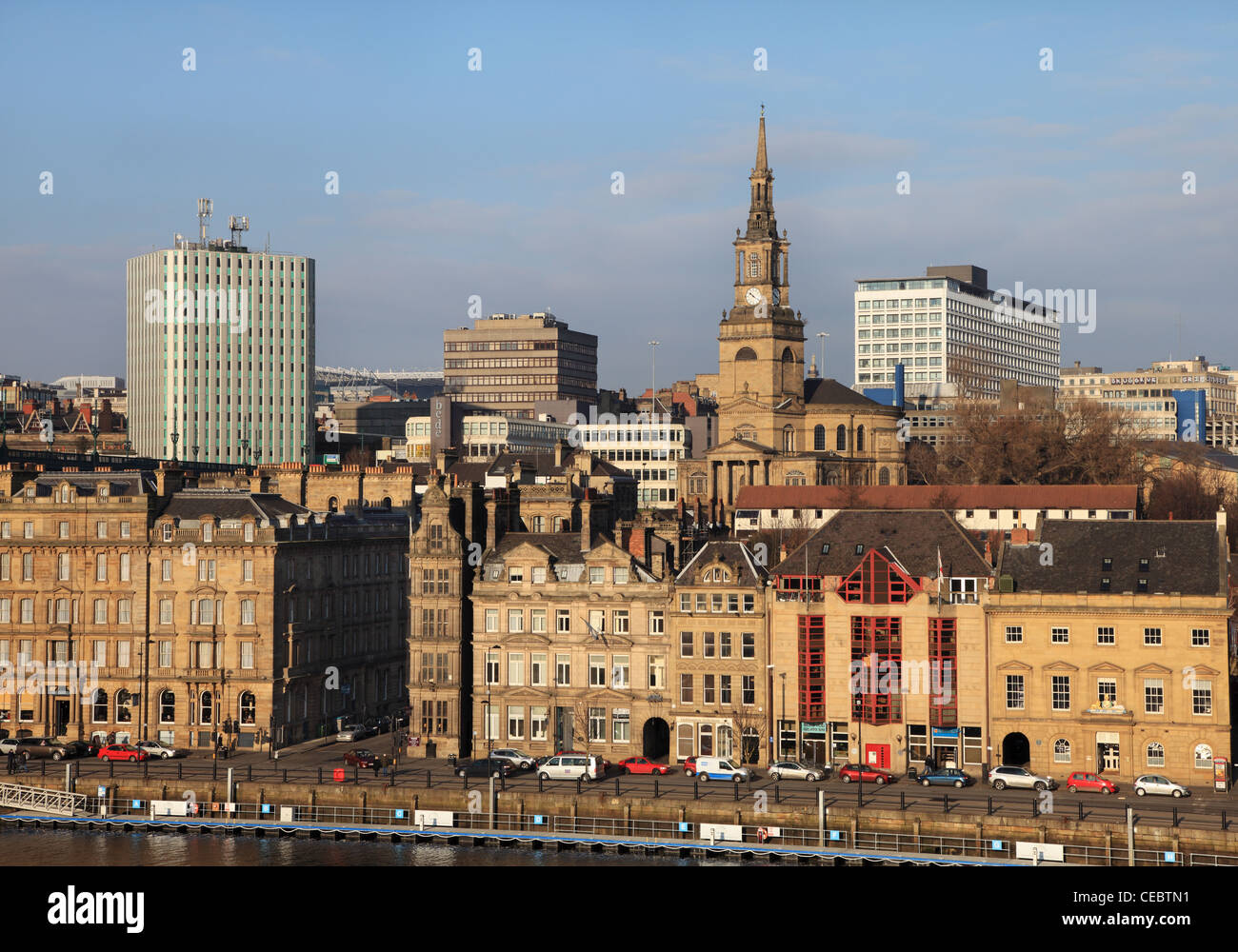 Newcastle quayside and cityscape north east England UK - Stock Image