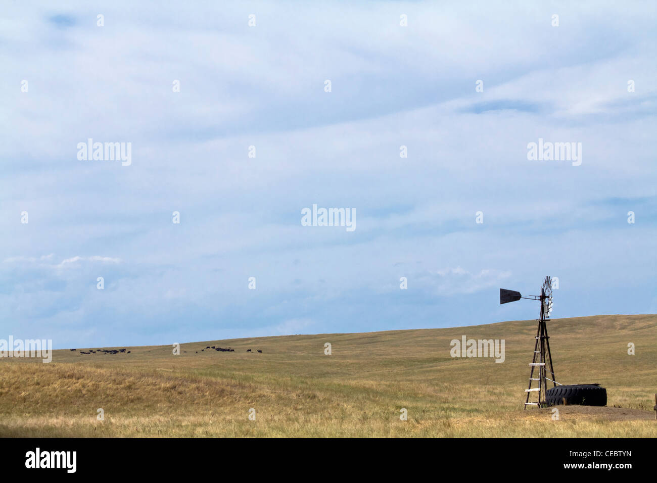 American prairie landscape Pine Ridge South Dakota Summer USA Indian reservation in the United States Stock Photo