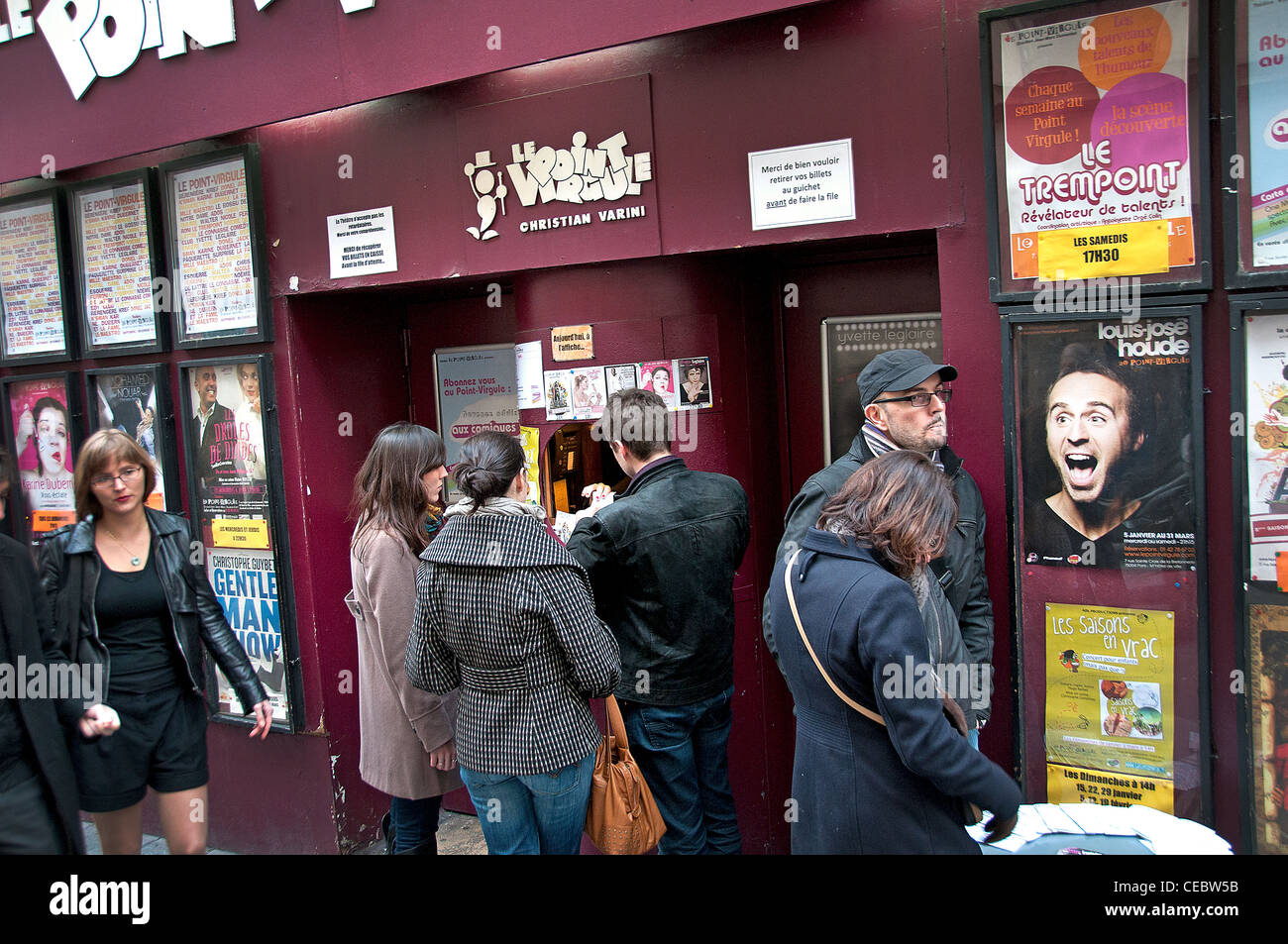 Theater Box Ticket Shop Marais Paris France - Stock Image