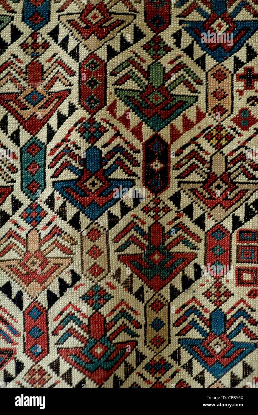 Antique Persian Handwoven  Rug Carpet - Stock Image