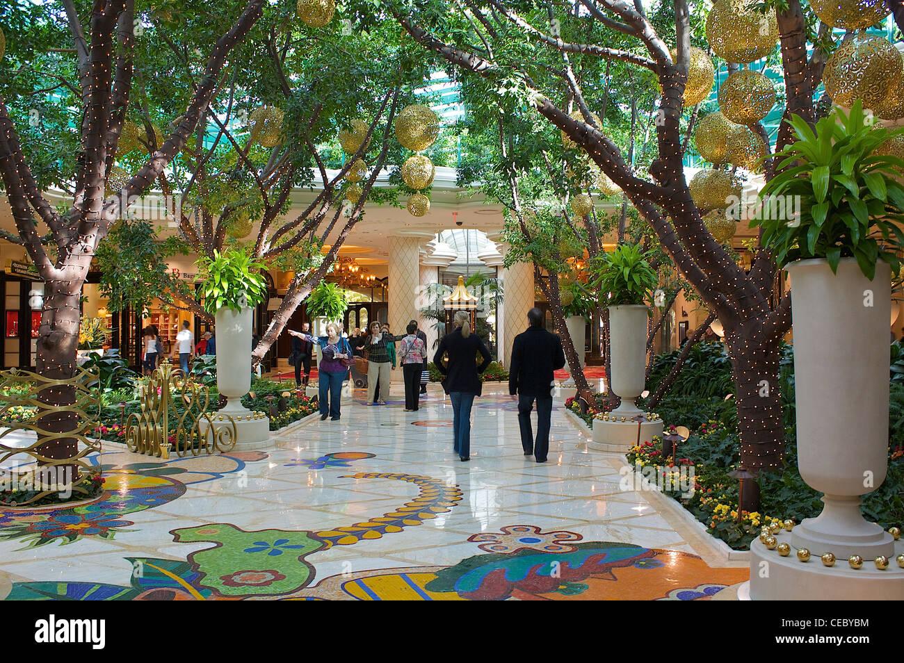 Inside The Wynn Las Vegas Hotel And Casino Stock Photo Alamy