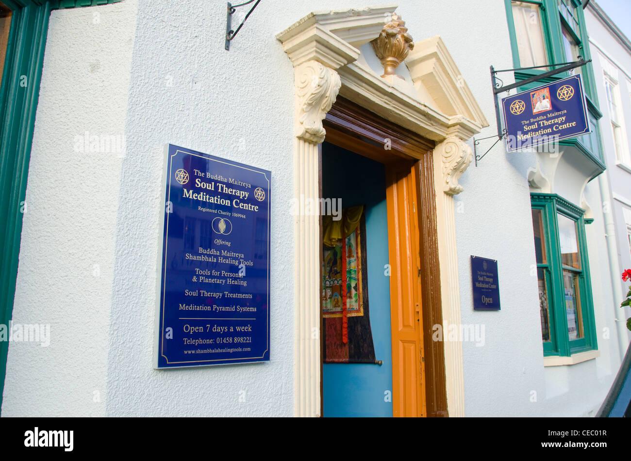 Soul therapy meditation centre, Glastonbury, Somerset , UK - Stock Image