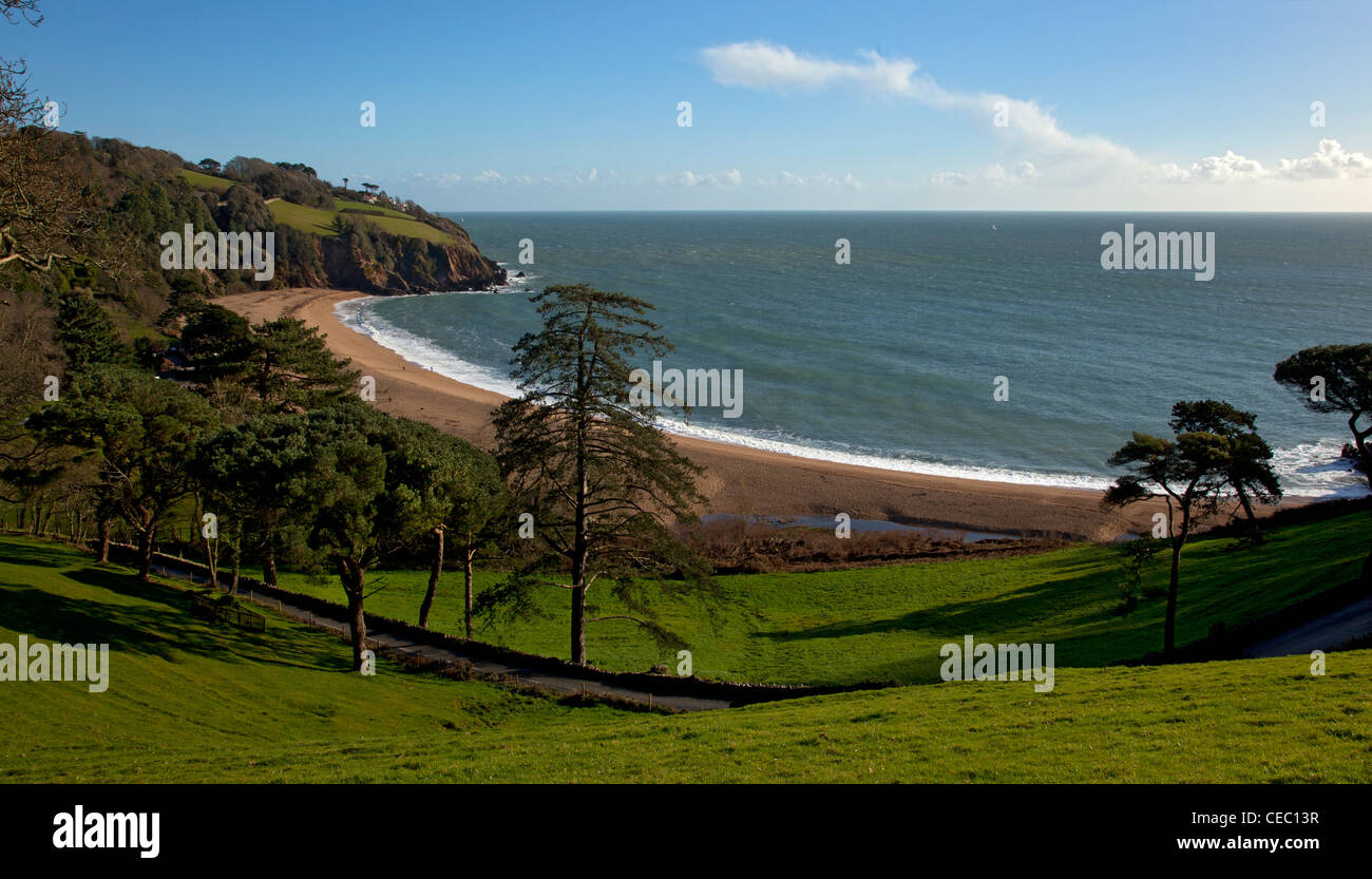 Blackpool Sands beach, South Hams, South Devon, England. - Stock Image