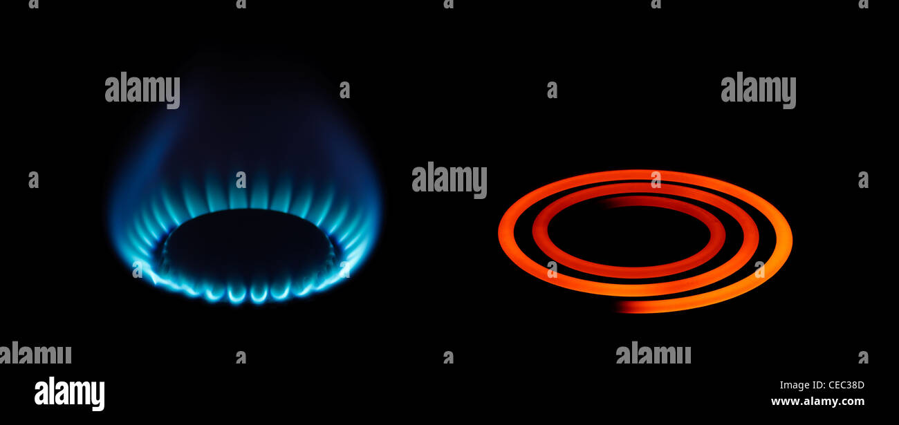 Different energy types - Stock Image