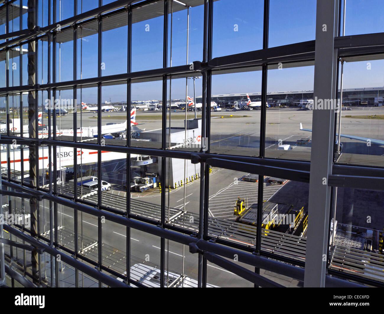 united kingdom west london heathrow airport terminal 5 - Stock Image