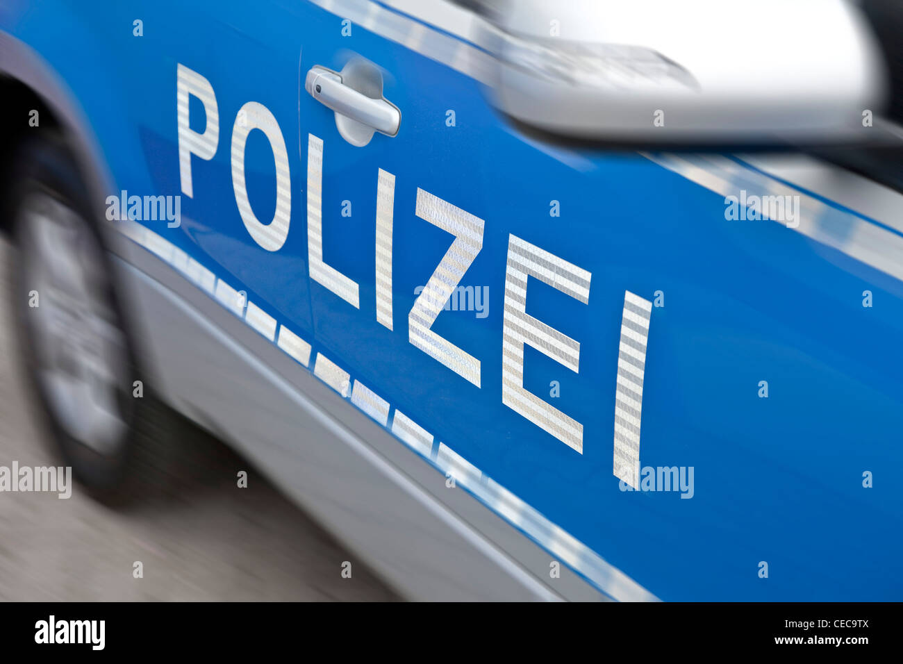 police car in germany - german police car - Stock Image