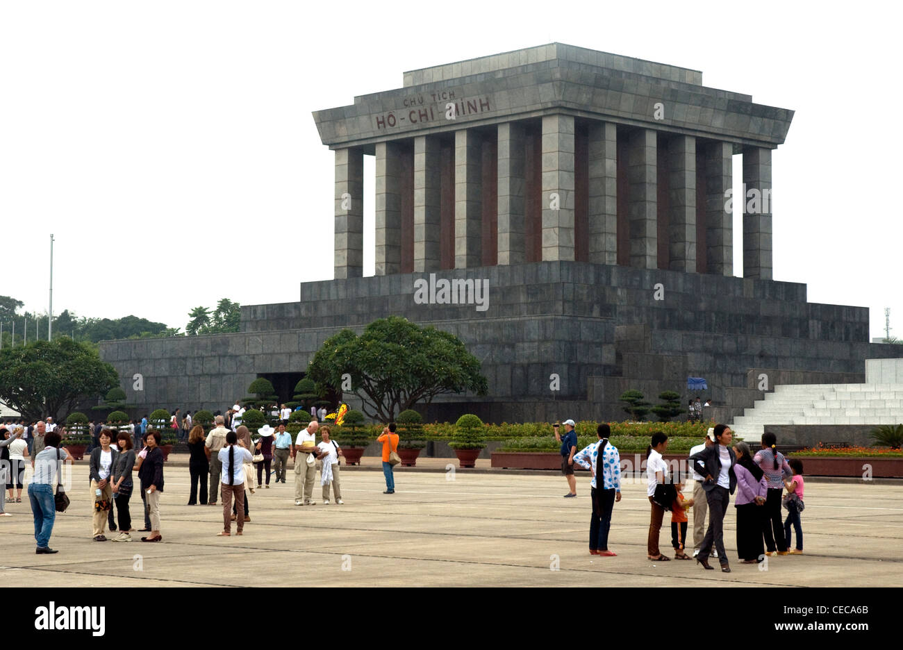 Ho Cho Minh's massive mausoleum, containing his embalmed body, dominates Vietnam's capital, Hanoi - Stock Image