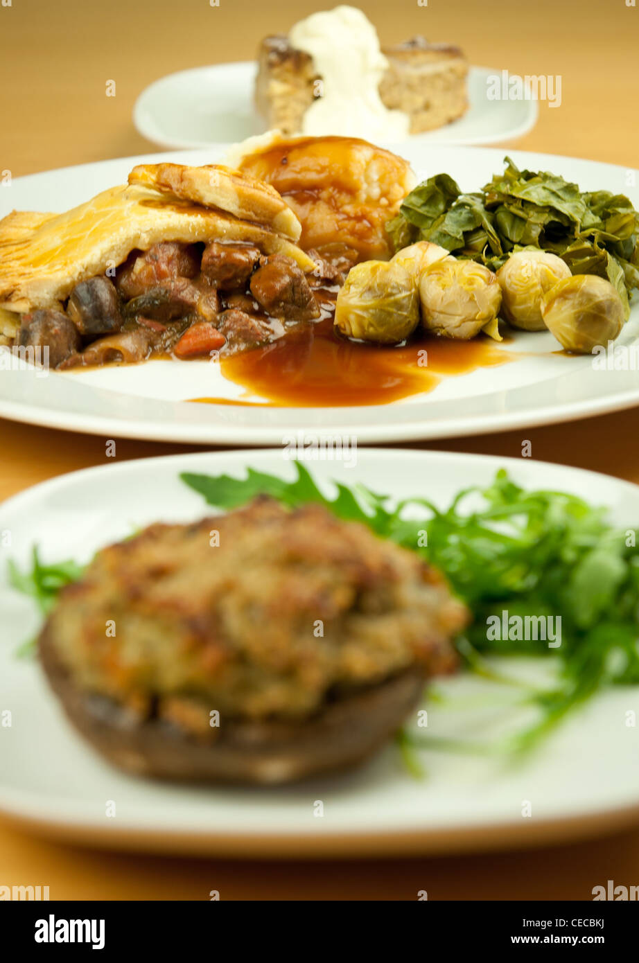 A Home Cooked 3 Course Meal Stock Photo 43298518 Alamy