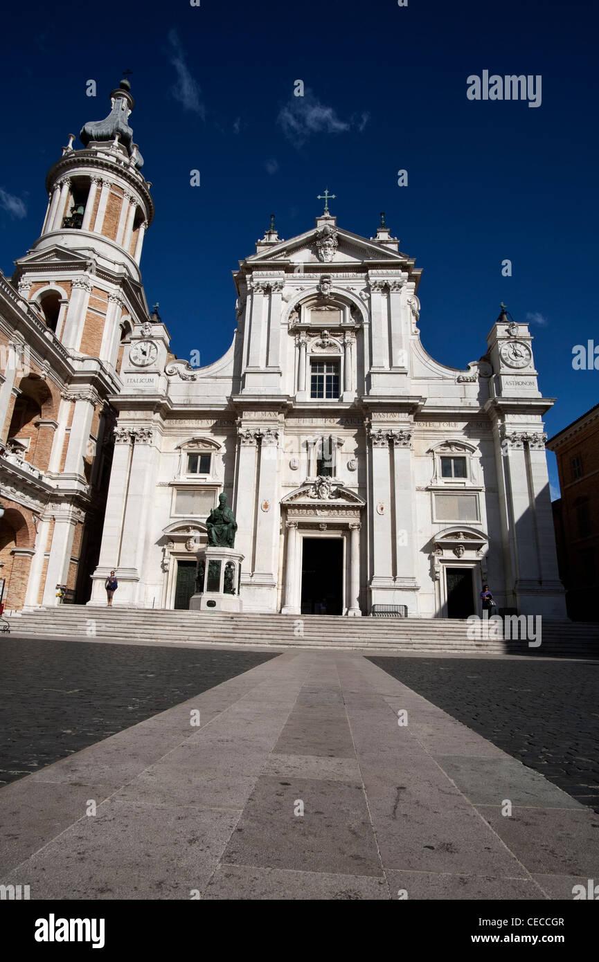 Basilica and the Holy House, Le Marche, Loreto - Stock Image