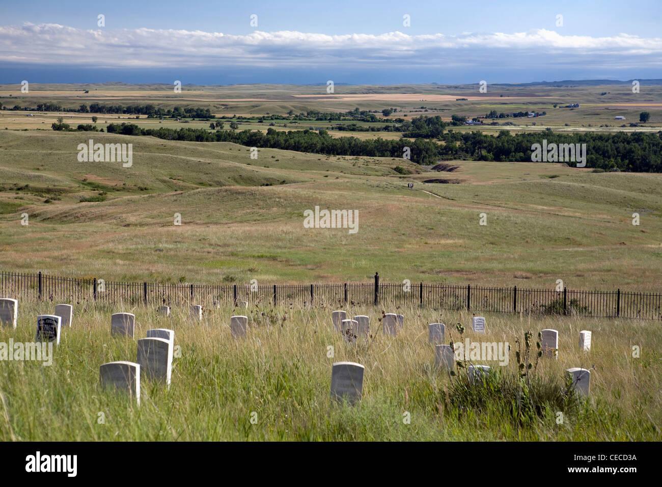 Little Big Horn Battefield National Monument, Montana. Stock Photo