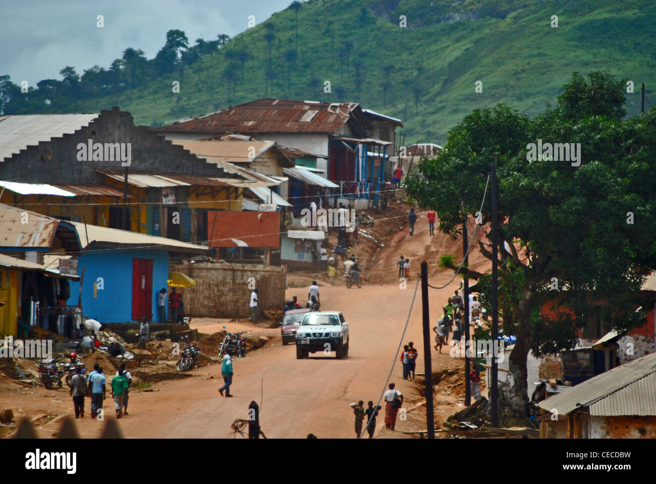 Voinjama, Liberia, Africa Stock Photo