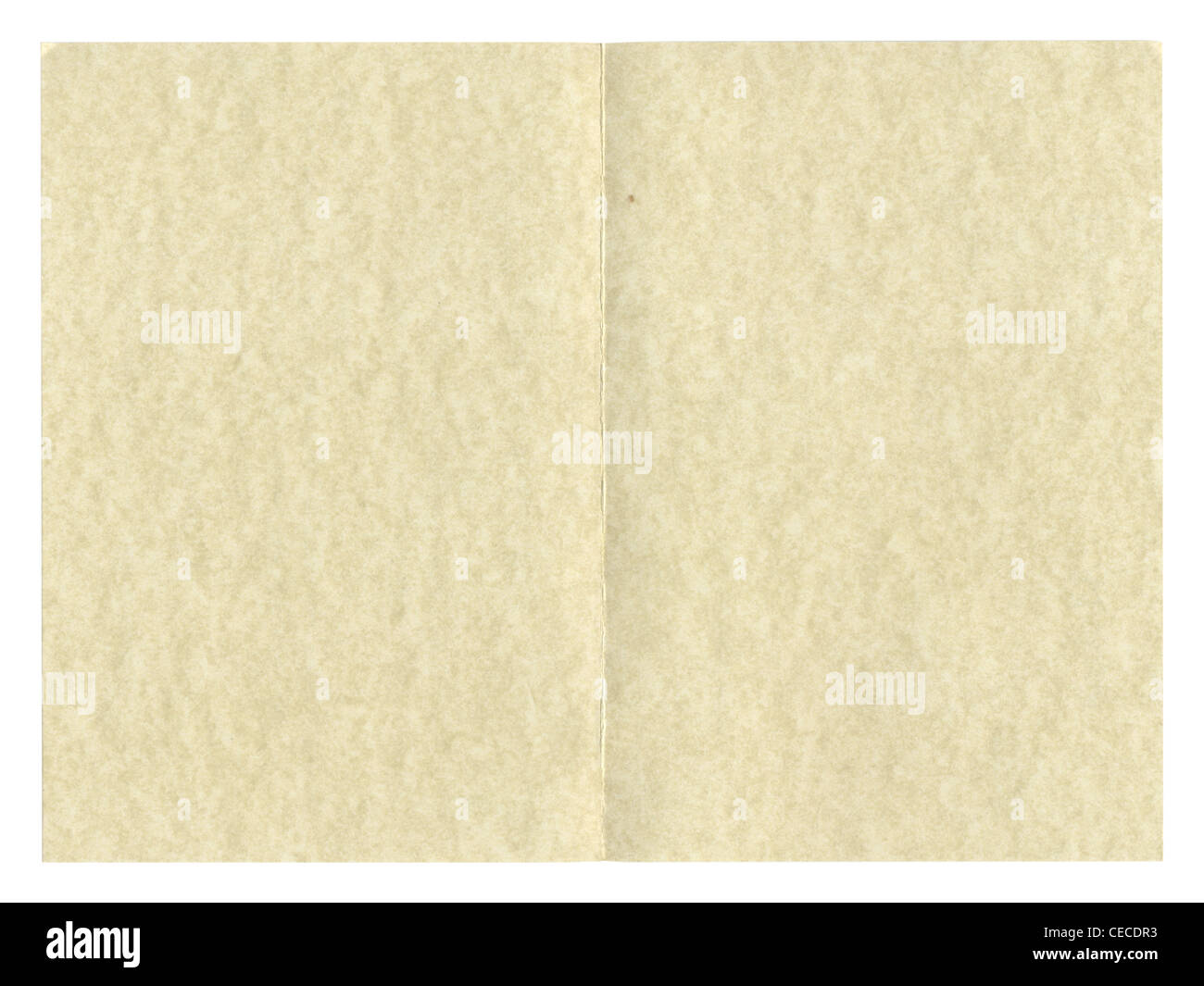 Blank Paper Parchment For Greeting Card Or Invitation Restaurant Menu