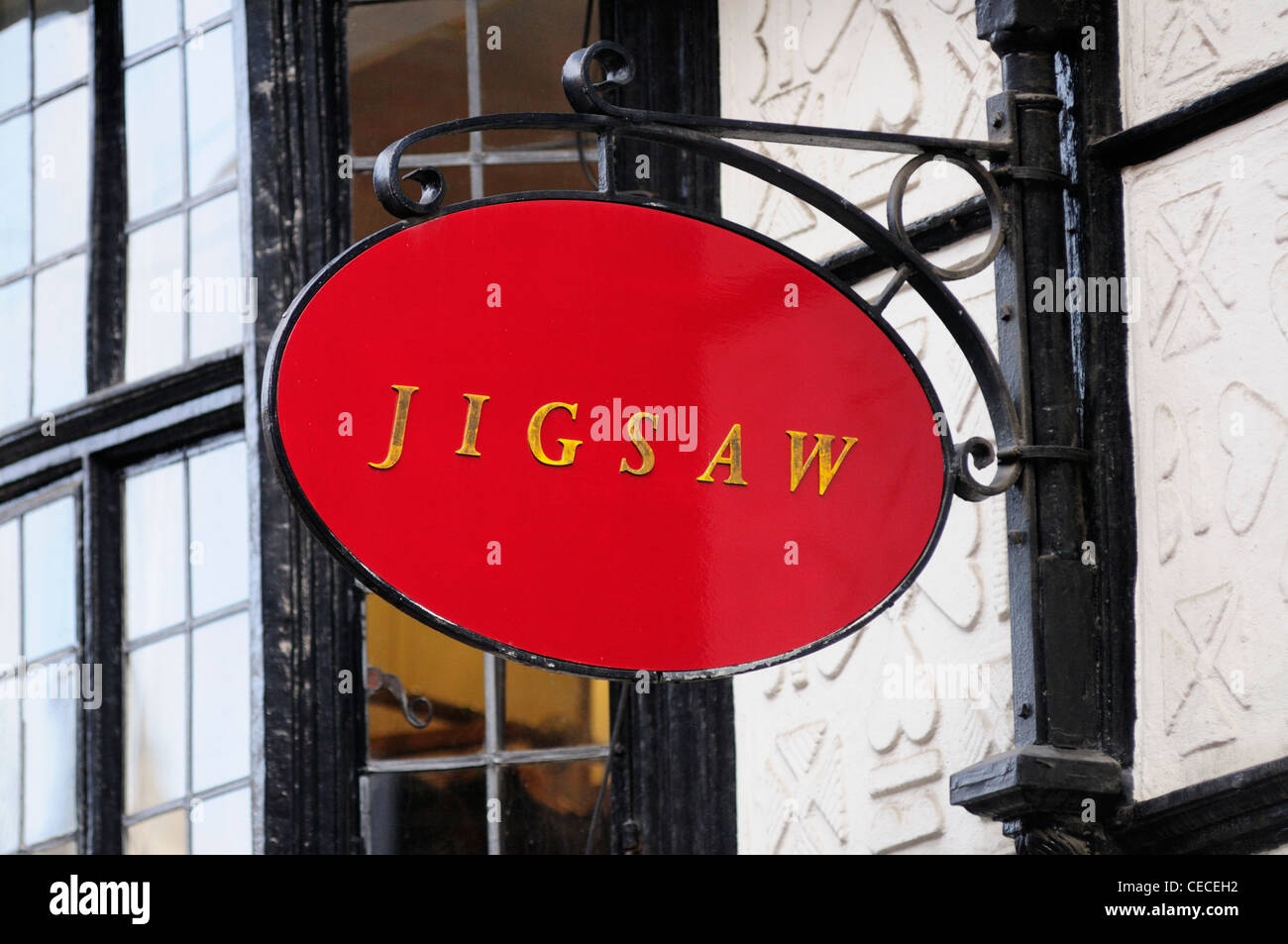 Jigsaw Women's Clothes Shop Sign, Trinity Street, Cambridge, England, UK - Stock Image