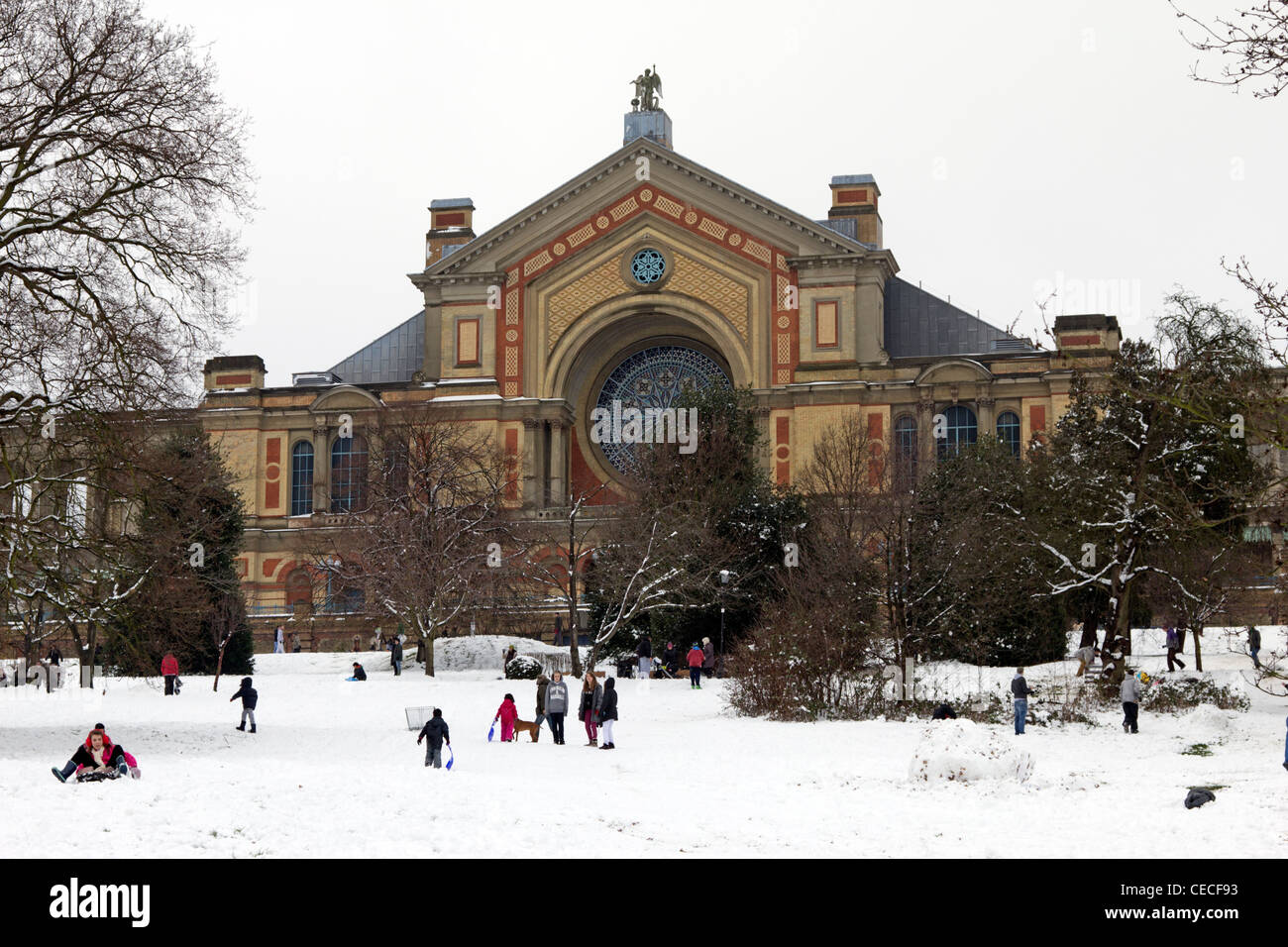 Winter Alexandra Palace - Haringey - London - Stock Image